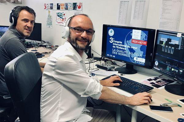 Julien Vallée et Nicolas Venturelli, les cerveaux d'une première mondiale : un congrès virtuel réunissant plusieurs centaines de participants
