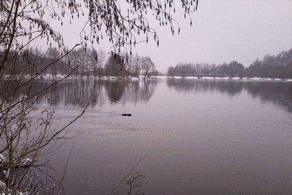Saint-Leu-d'Esserent dans l'Oise ce matin sous la neige
