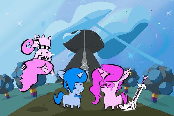 Melvin la licorne bleue vit ses aventures en compagnie de Rémi et de Docteur Flocon.