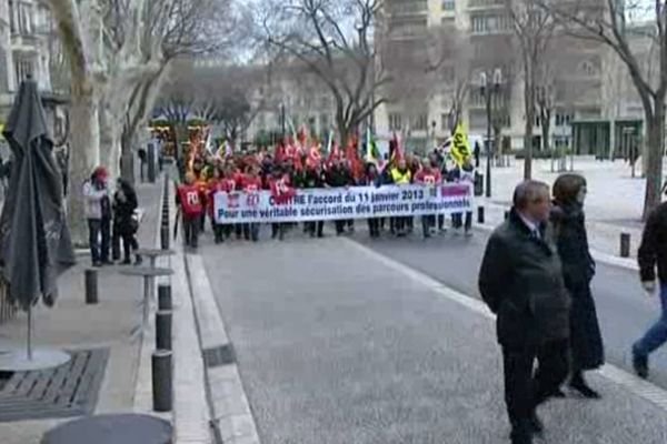 Nîmes - défilé des syndicats - 5 mars 2013.