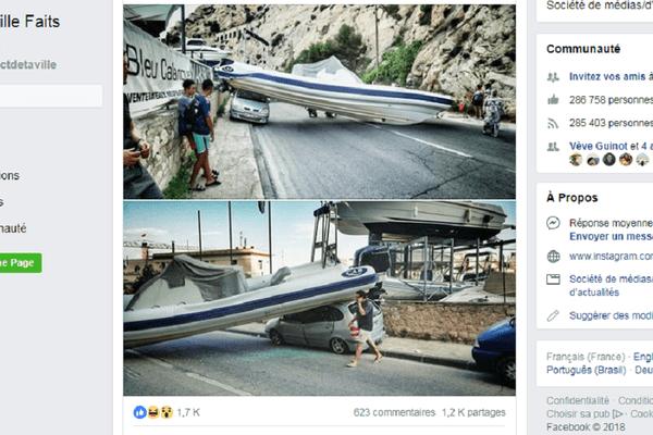 Capture d'écran Marseille Faits Divers