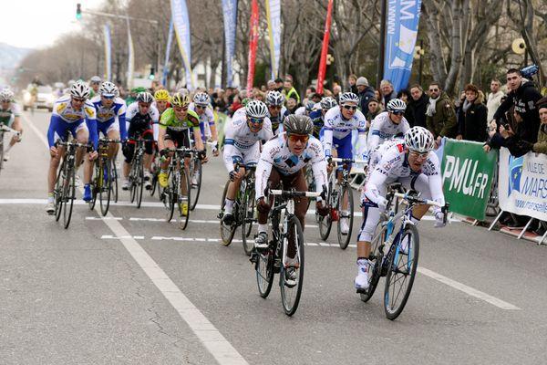 Cyclistes lors d'une édition précédente du Grand prix La Marseillaise