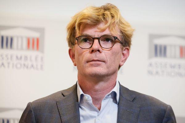 Marc Fesneau, président du groupe MoDem à l'Assemblée Nationale, lors de son point presse le 17 juillet.