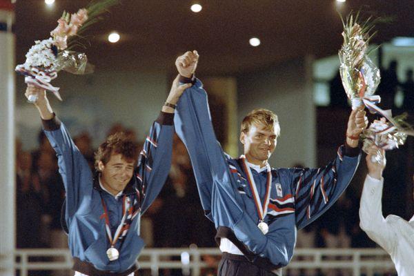 En 1988 aux jeux de Séoul, Thierry Peponnet décroche l'or avec Luc Pillot.
