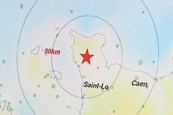 La carte publiée sur le site du CEA