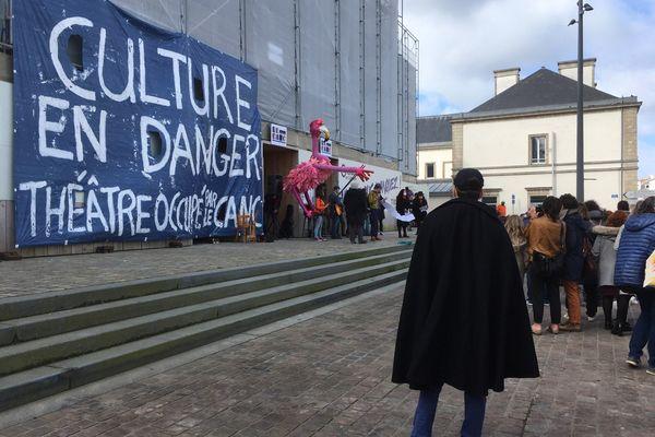 """Le mouvement """"théâtre occupé"""" a investi le Trident, scène nationale de Cherbourg-en-Cotentin."""