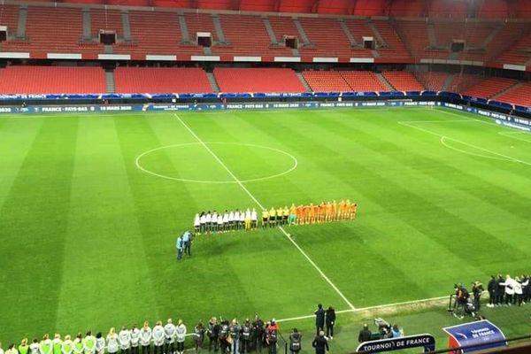 France - Pays-Bas s'est joué à huis clos au stade du Hainaut, pour cause de coronavirus.