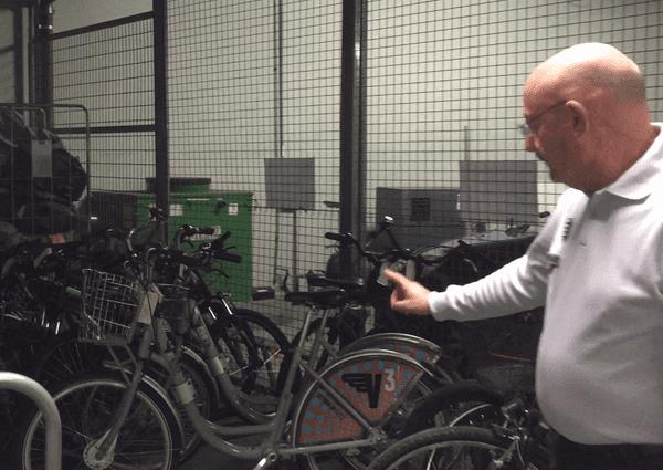 Parmi les vélos volés, quelques Vcub sont, eux aussi, stockés
