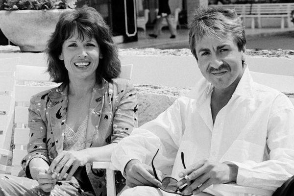 Chantal Lauby et Bruno Carette au Festival de Cannes en 1985.