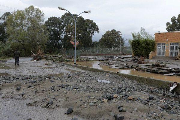 A Biguglia, après les inondations du 24 novembre 2016 en Haute-Corse.