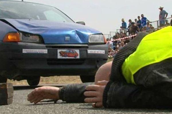 Un accident simulé mais terrifiant à 50 km/h