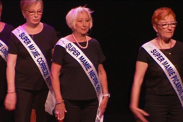 Nicole Sterle lors de la finale de Super Mamie, le 13 mai 2018 en Normandie.