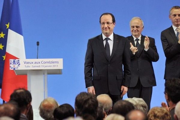 Les voeux du président de la République à Tulle, 19 janvier 2013