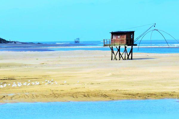 Coup de chaud sur la plage de Saint-Brévin-les-Pins en Loire-Atalntique