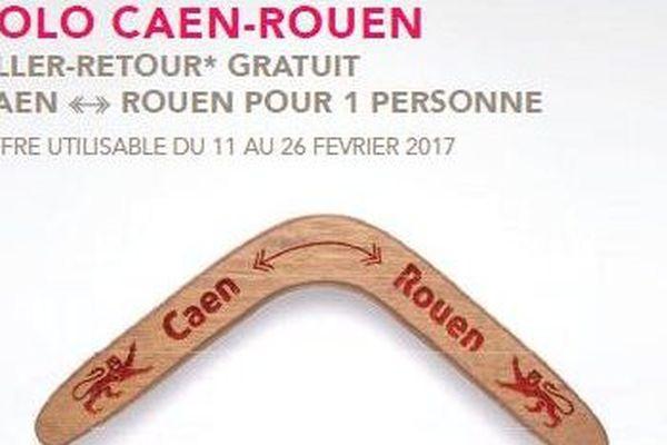 La SNCF organise un jeu-concours pour gagner des billets de la ligne Rouen-Caen