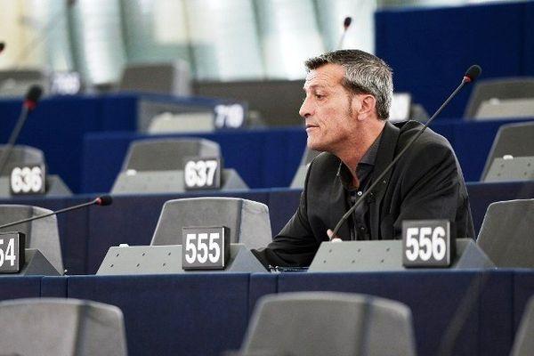 Edouard Martin au Parlement Européen à Strasbourg, le 30 juin 2014.