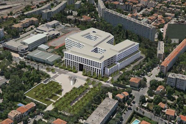 La nouvelle version du projet d'hôpital privé, au coeur de quartier de St Barnabé
