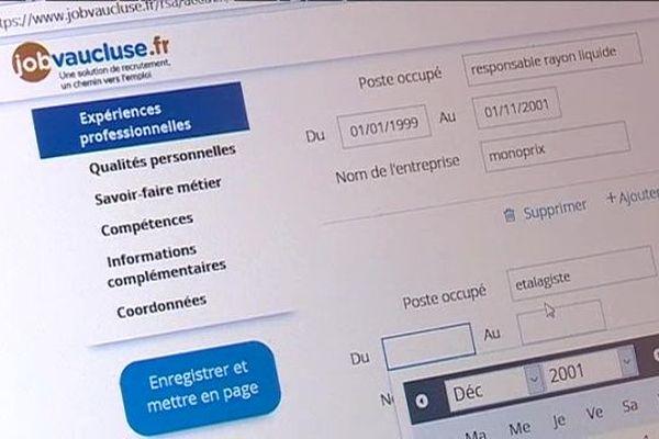 La plateforme internet JobVaucluse permet de mettre en relation les allocataires du RSA et les emploeurs