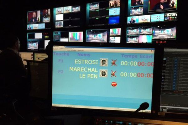 Avant l'émission, les compteurs de temps de parole.