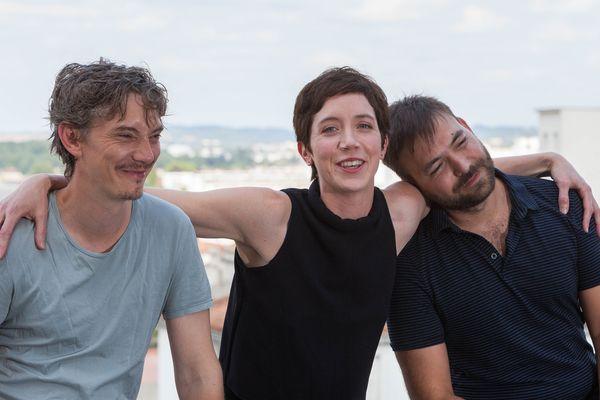 Swann Arlaud, Sara Giraudeau et Hubert Charuel au 10ème Festival du Film Francophone d'Angoulême.