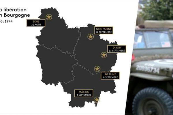 A l'été 1944, la Bourgogne est libérée peu à peu de l'envahisseur allemand