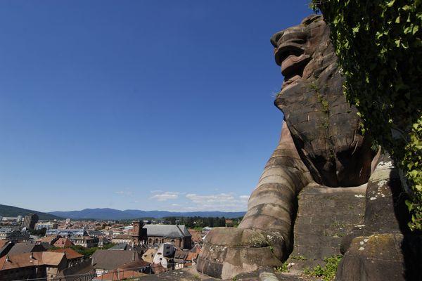 Le lion de Bartholdi à Belfort