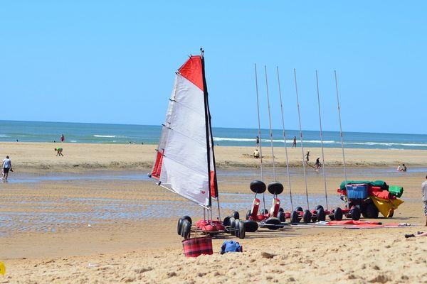 La plage de Saint-Trojan, en Charente-Maritime