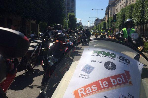 300 motards en colère à Rennes, le 19 février 2017