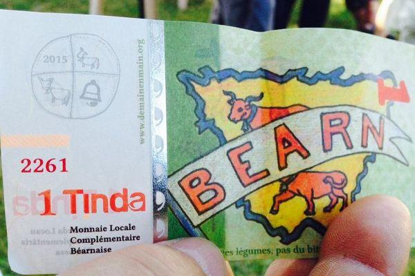 un billet de Tinda - monnaie complémentaire du Béarn