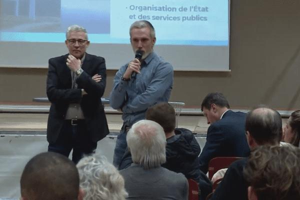 Le neurochirurgien Laurent Thines faisait partie des Bisontins présents au grand débat.