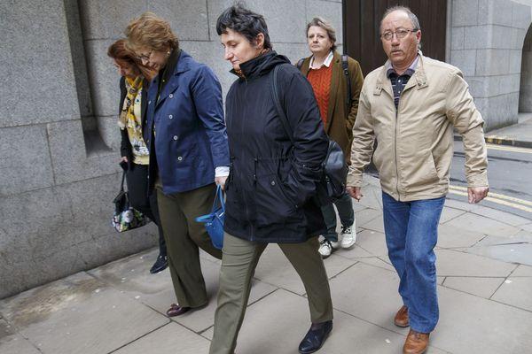 La mère de Sophie Lionnet à Londres le 16 avril 2018 lors du procès du meurtre de sa fille.