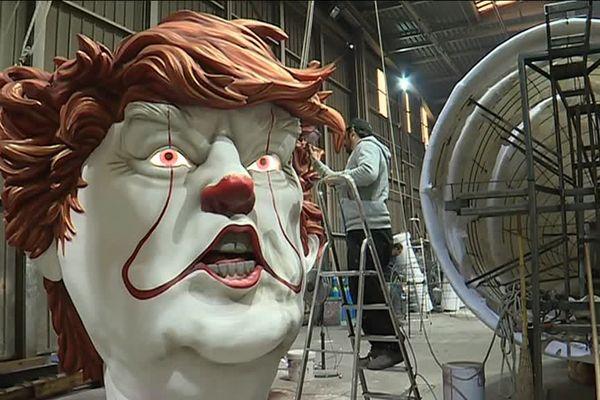 Donald Trump, en clown maléfique