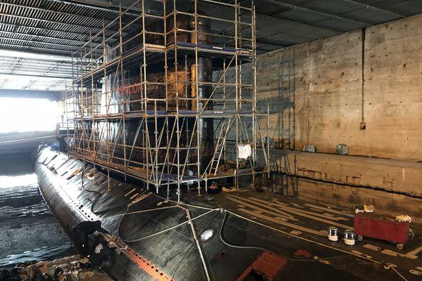 La restauration du sous-marin L'Espadon aura duré six mois