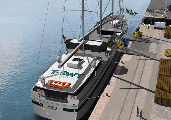 """Le """"voilier cargo"""", une solution logistique alternative aux porte-conteneurs conventionnels"""