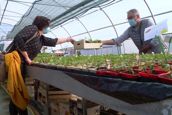 Les clients ont pris l'habitude de venir chercher leurs plantes chaque année à l'ESAT