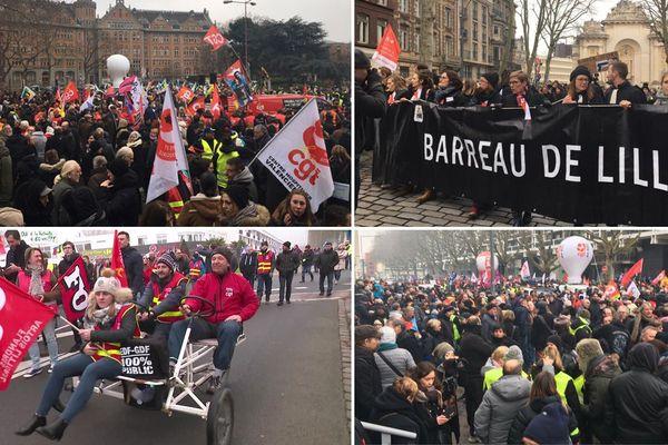 Les images des manifestations à Lille et Calais.