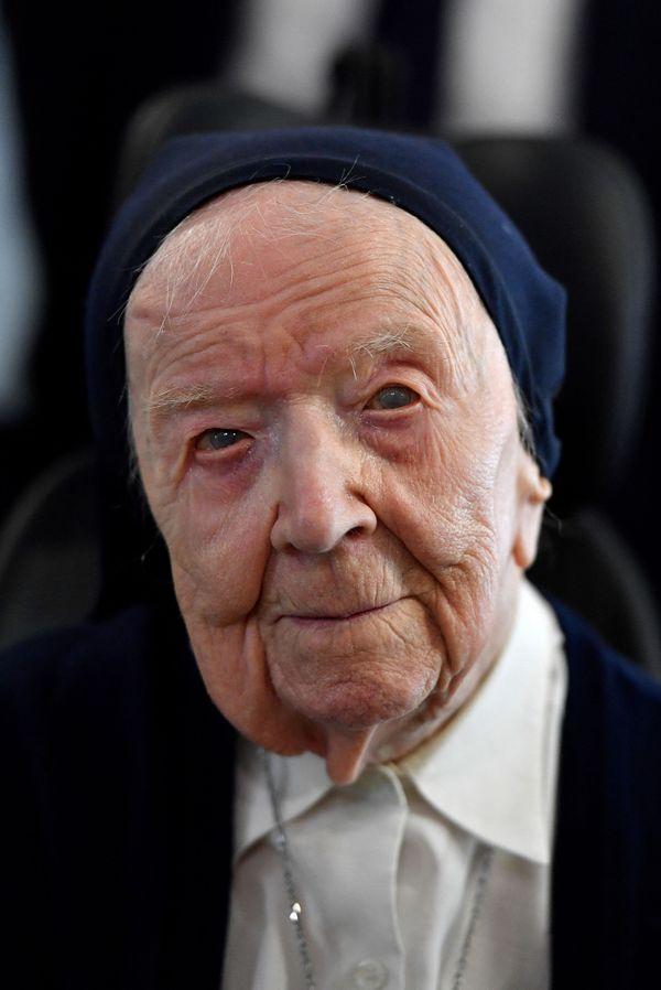 Soeur André, alias Lucile Randon, a abandonné son nom civil il y a 77 ans pour entrer en religion. ARCHIVES