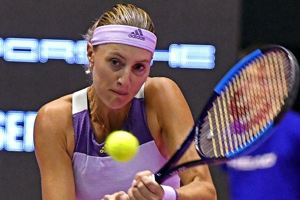 Kristina Mladenovic à Lyon jeudi.