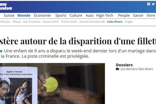 Le journal suisse Tribune de Genève