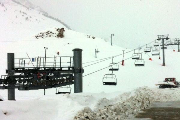 Pas de skieur à la Mongie !