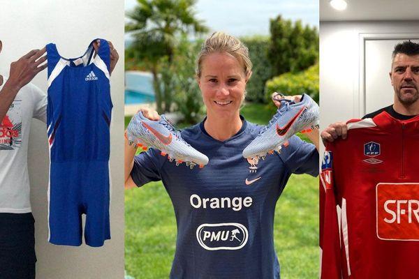 Parmi les sportifs qui proposent un souvenir à la vente aux enchères en aide aux HCL de Lyon, Stéphane Diagana, Amandine Henry et Grégory Coupet