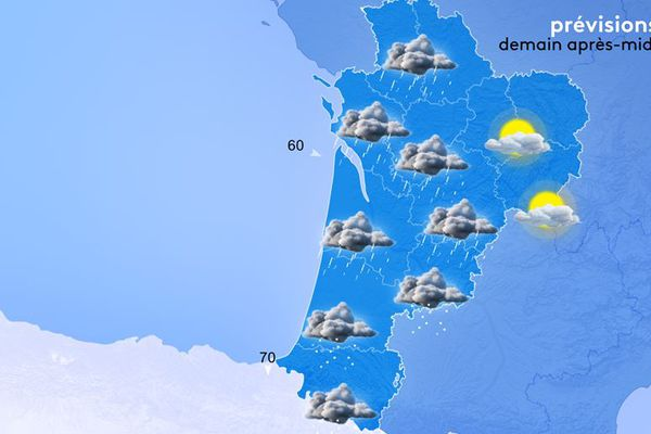 Encore beaucoup d'instabilité demain après-midi