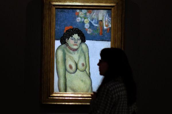 """Pablo Picasso """"La Gommeuse"""", 1901, collection privée"""
