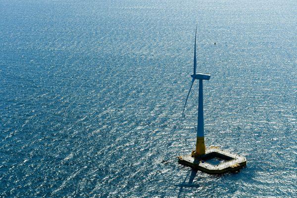 Photo d'illustration - Floatgen est la première et seule éolienne en mer installée au large du Croisic dans le futur parc éolien offshore qui verra le jour en 2022