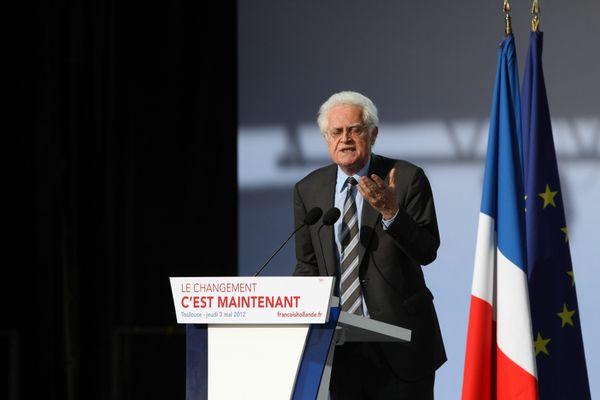 Lionel Jospin, le 5 mars 2012, Place Du Capitole, lors du dernier meeting de François Hollande pour la Présidentielle