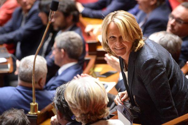 Frédérique Meunier, députée UDI de la Corrèze, sur les bancs de l'assemblée nationale