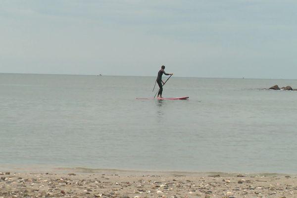 L'activité sur l'eau reprend avec l'ouverture des plages en mode dynamique ce 16 mai à Palavas dans l'Hérault.