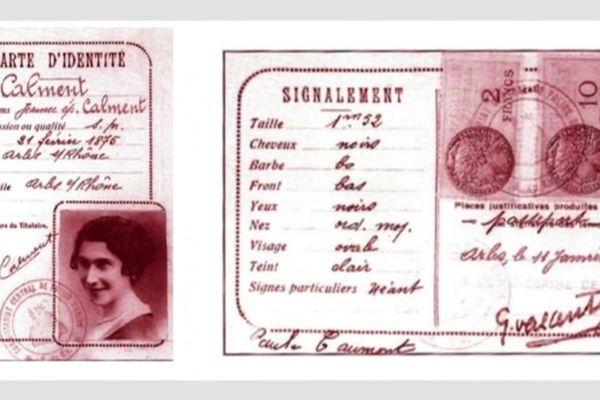 Carte d'identité de Jeanne Calment datant des années 1930