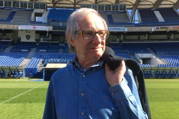 Ken Loach au stade du SC Bastia.