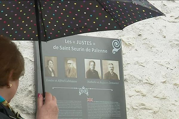 """Une plaque en l'honneur de ces 4 villageois a été dévoilé, un square de la commune a également été baptisé """"Jardin des Justes"""""""